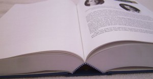 DFAB binding is an approved Library Binding Institute method, ideal for multi-generational usage such as the huge 1200 pages family history book featured here